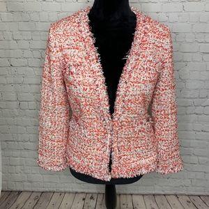 Ann Taylor Fringe Tweed Jacket NWT